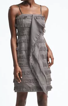 Heritage Cascade-Front Fringe Dress