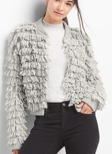 Gap Loop-fringe cardigan
