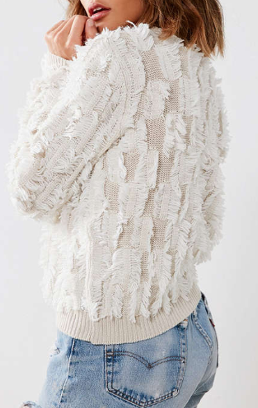 Kimchi Blue Fringe Pullover Sweater
