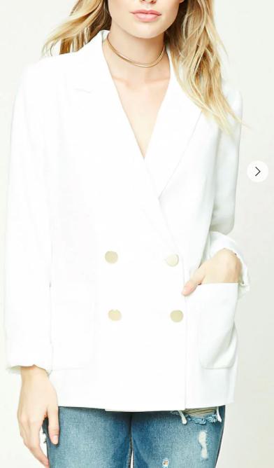 Contemporary Button-Up Blazer