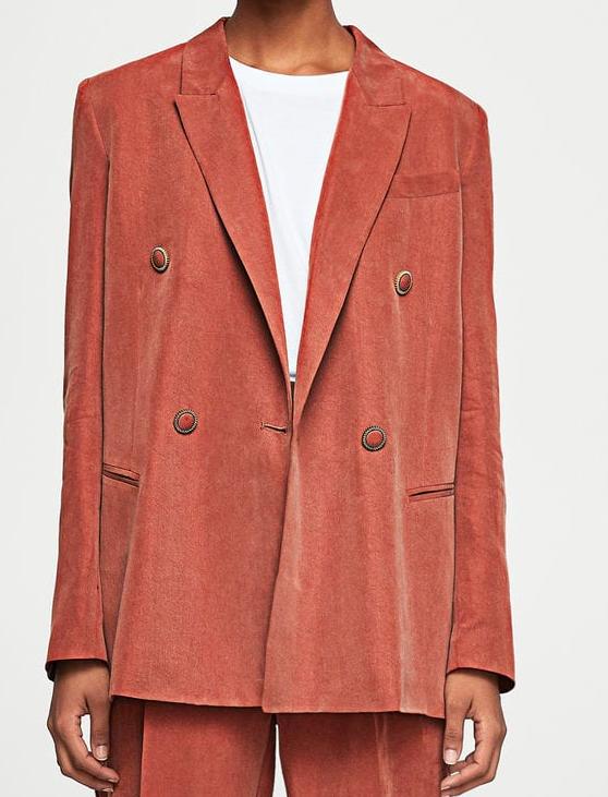 MANGO Contrast buttons blazer