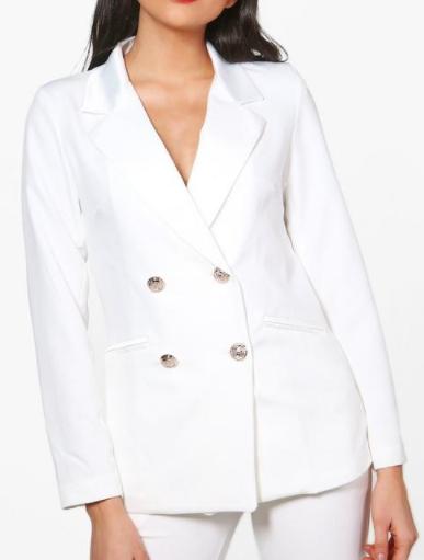BOOHOO Dahlia Double Breasted Tailored Blazer