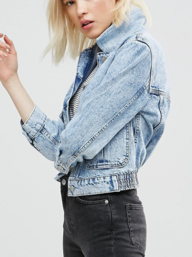 ASOS Denim Jacket with Cord Collar