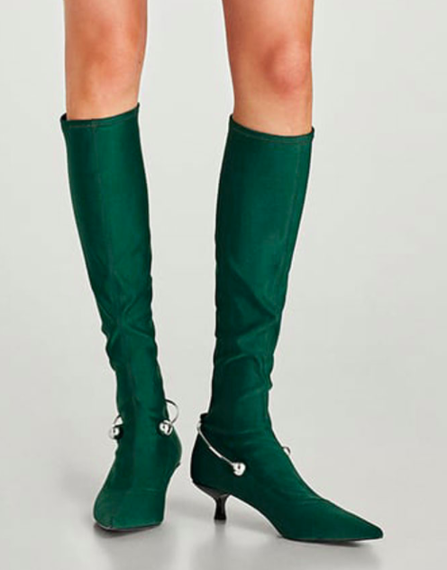 ZARA SOCK BOOTS WITH METAL DETAIL