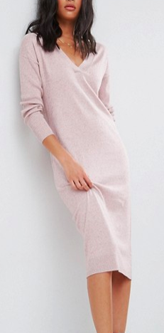 ASOS Knitted Dress In Silk Blend