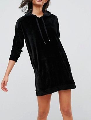 Stradivarius Velvet Sweater Dress