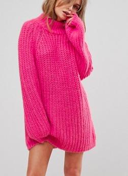 Vero Moda High Neck Oversized Sweater Dress