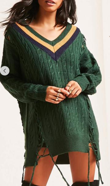 Forever 21 Twelve Varsity Sweater Dress