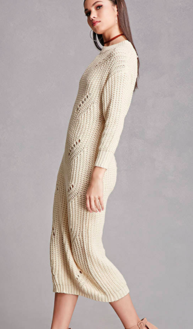 Forever 21 Ladder-Cutout Sweater Dress