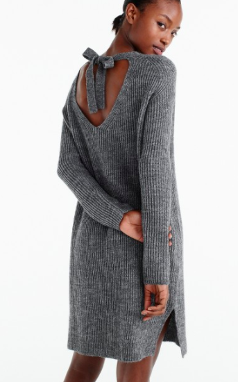 J. Crew Open-back sweater-dress
