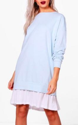 Boohoo Alana 2 in1 Sweater Dress