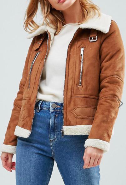 Vero Moda Petite Faux Shearling Borg Jacket