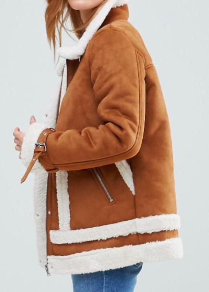 Vero Moda Petite Faux Shearling Jacket