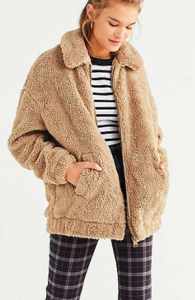 Light Before Dark Oversized Sherpa Zip-Up Jacket