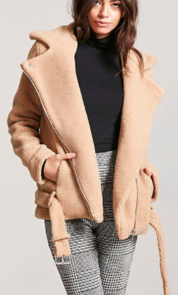 Forever 21 Belted Faux Shearling Coat