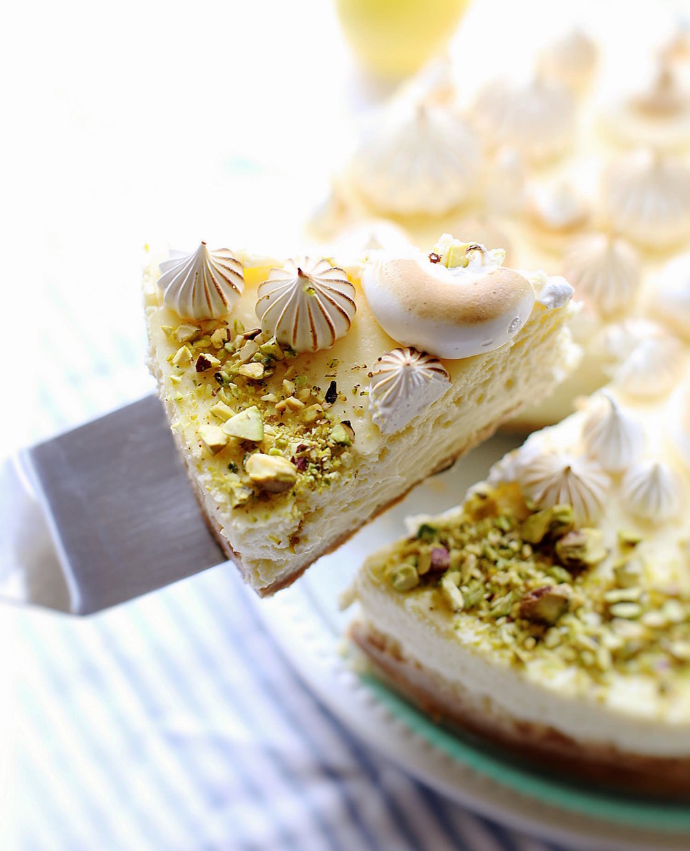 Creamy Lemon Meringue Cheesecake | TrufflesandTrends.com