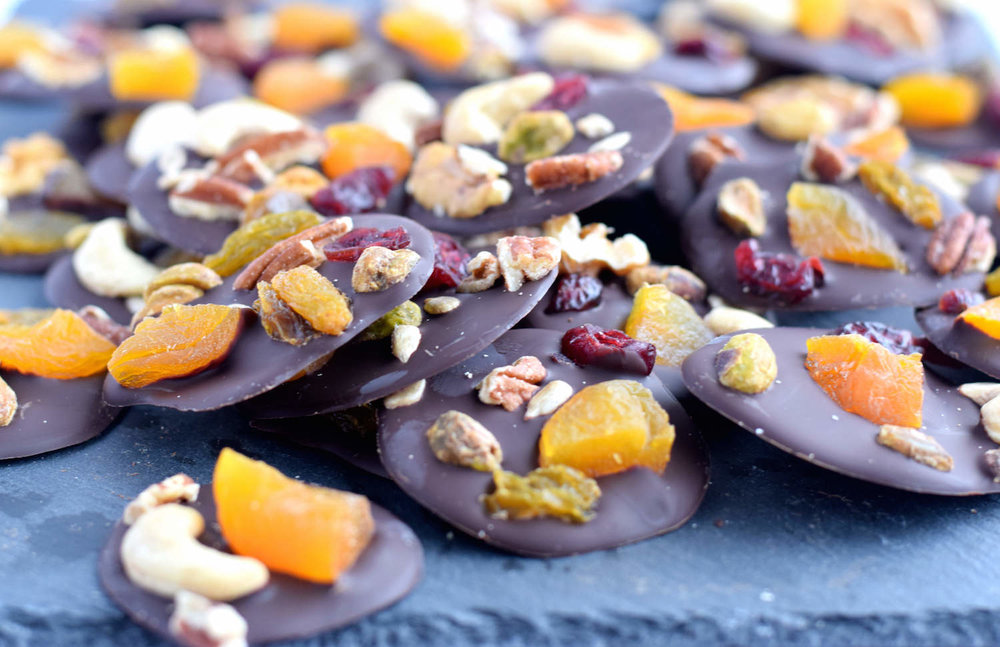 Chocolate Fruit and Nut Disks | TrufflesandTrends.com