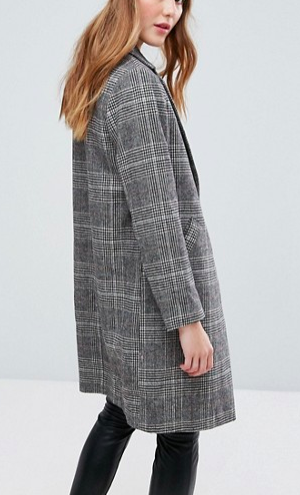 New Look Checked Tailored Coat
