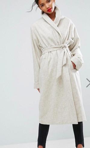 ASOS Shawl Collar Belted Coat