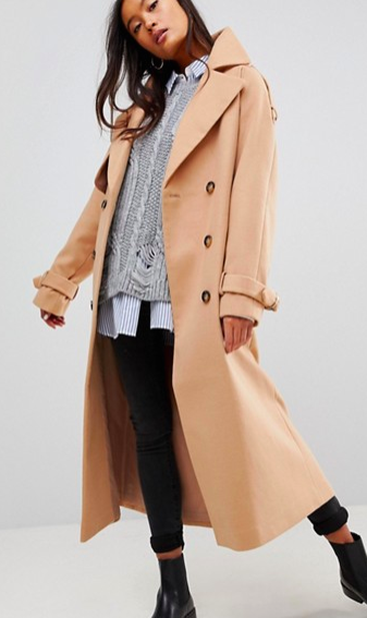 ASOS Wool Trench Coat