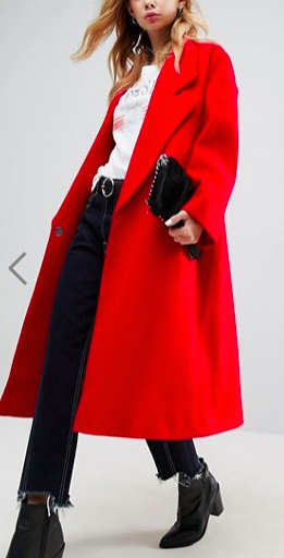 ASOS Coat with Extreme Collar