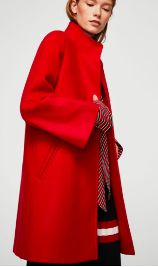 Mango Straight-cut wool coat
