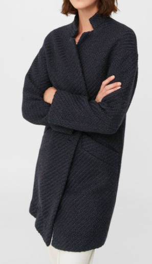 Mango Pocketed wool coat