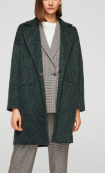Mango Unstructured mohair-blend coat