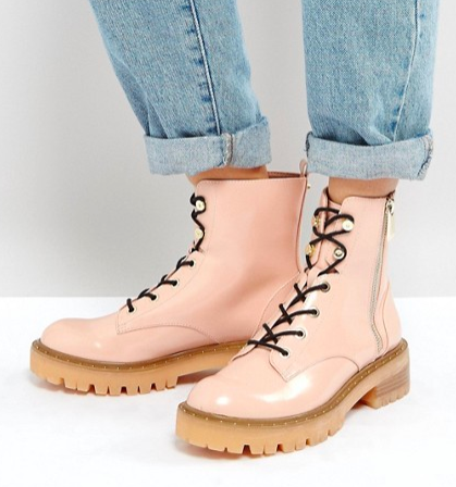 Stradivarius Lace Up Ankle Boots