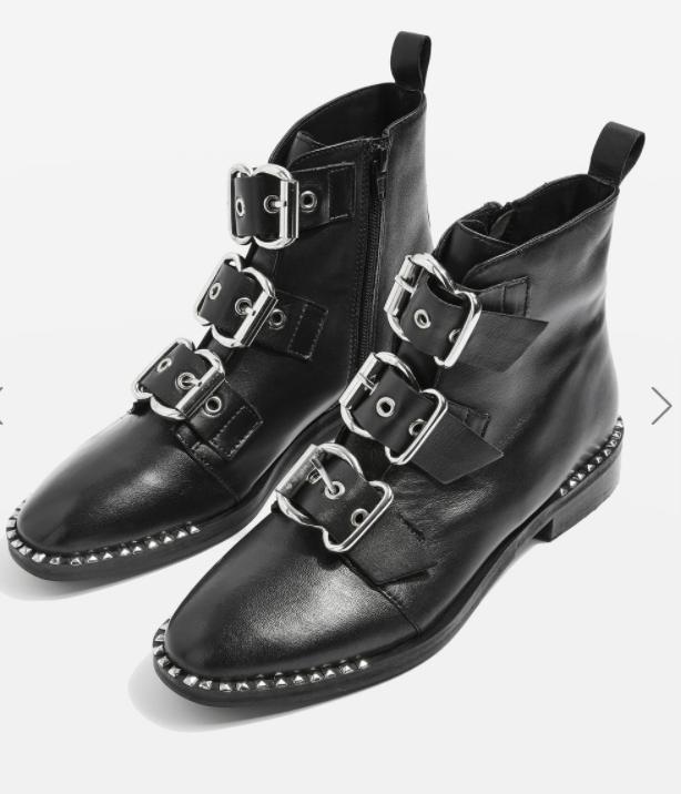 Topshop ALFIE Buckle Boots