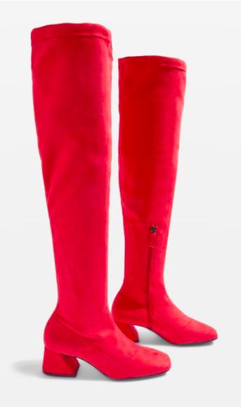 TOPSHOP CAPPUCCINO High Leg Boots