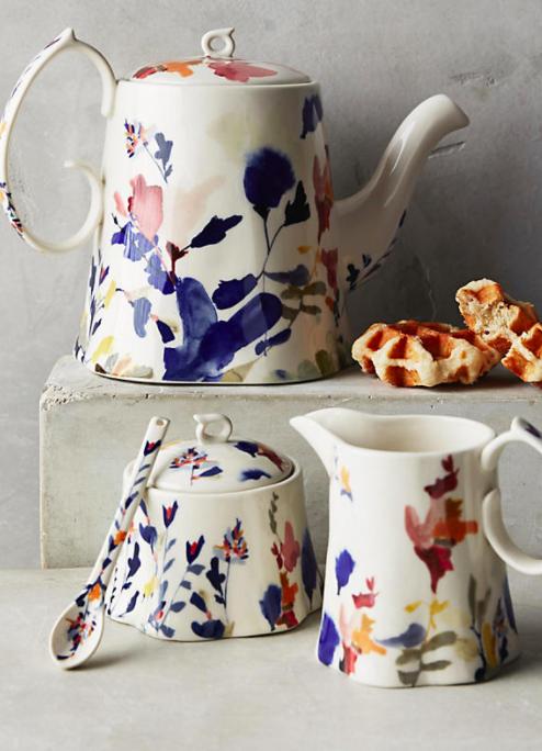 Jen Garrido Wildflower Study Teapot
