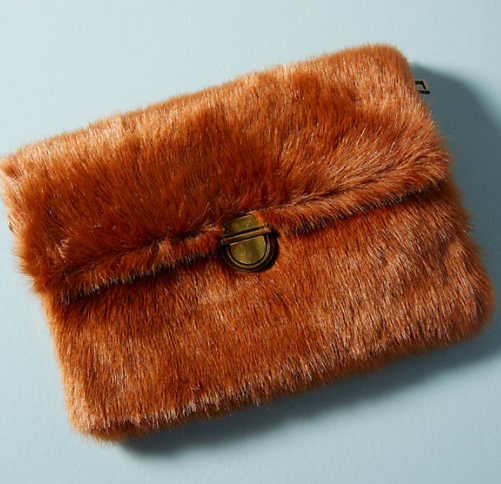 Anthropologie Faux Fur Mini Shoulder Bag