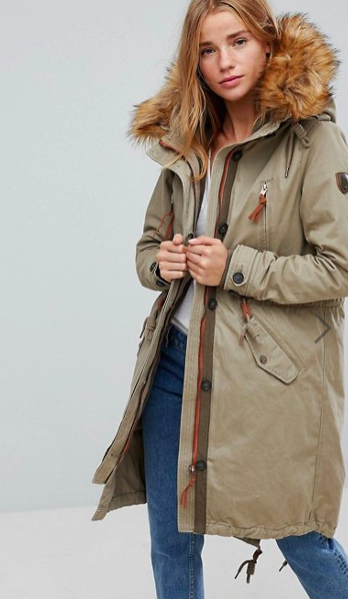 Only Parka With Faux Fur Lining