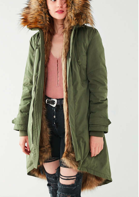 UO Aspen Detachable Faux Fur Lined Parka