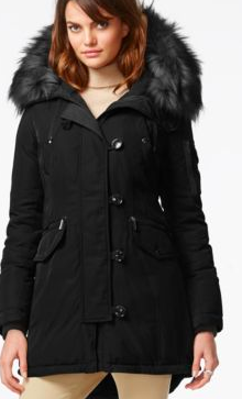 Waterproof Anorak with Faux Fur Hood MICHAEL MICHAEL KORS