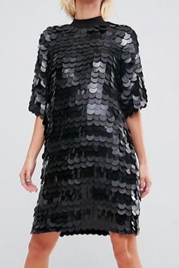 ASOS WHITE Premium Sequin Mini Dress