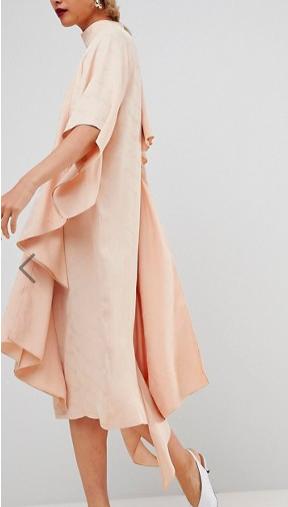 ASOS WHITE Square Panel Soft Midi Dress