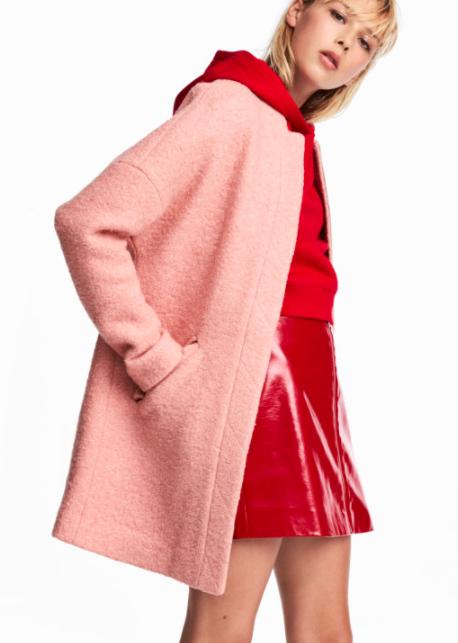 HM Coat in Bouclé Yarn