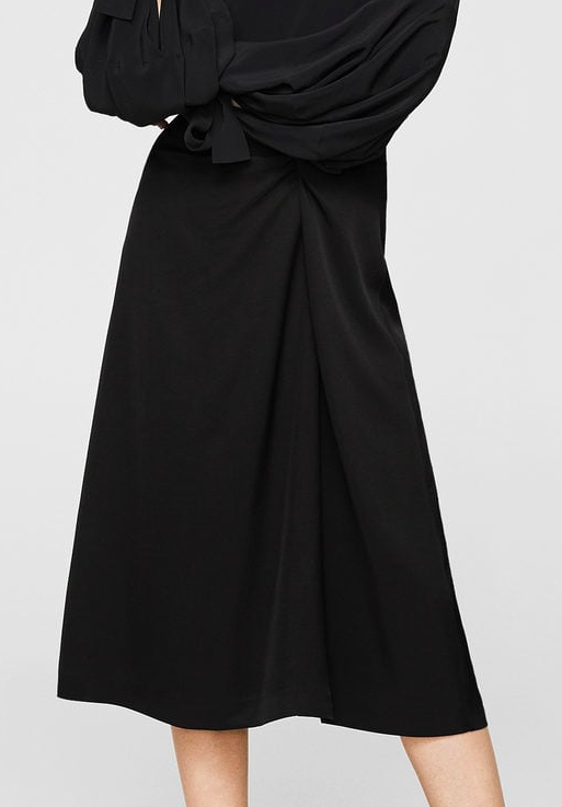 MANGO Decorative knot skirt