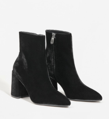 MANGO Velvet heel ankle boot
