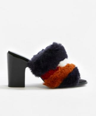 MANGO Combined faux fur sandals