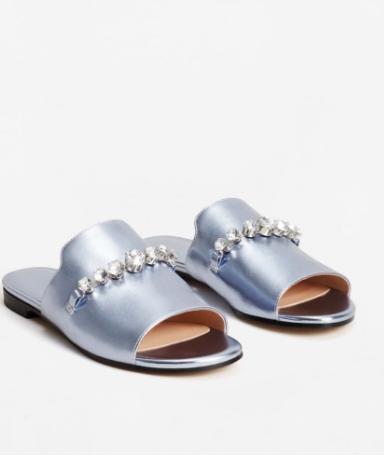 MANGO Crystal metallic sandals