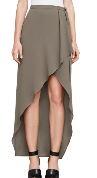 BCBG Roxy Asymmetrical Wrap Skirt