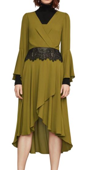 Koko Asymmetrical Lace-Trimmed Dress