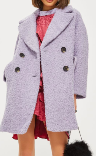 TOPSHOP TALL Boucle Slouch Coat