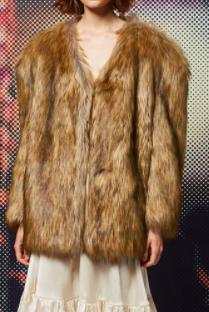 TOPSHOP Faux-Fur Chubby Coat