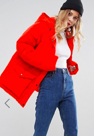 ASOS Puffer Jacket With Pocket Detail
