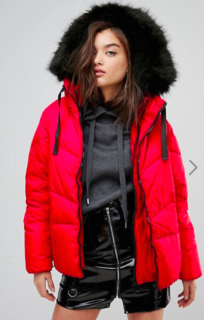 River Island Double Layer Padded Jacket