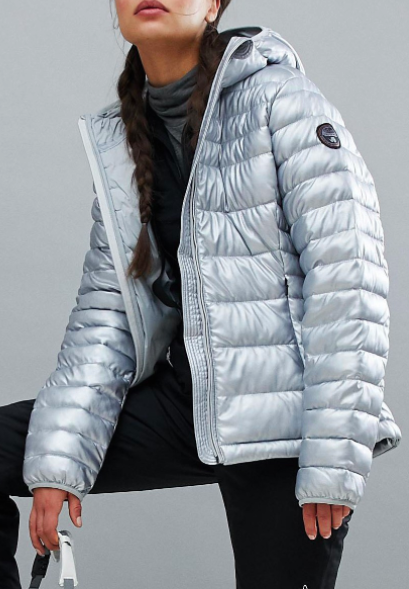 Napapijri Aerons Eco Jacket In Silver